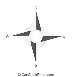 Wind Rose Compass vector icon. North West East South Star. Vector illustration. White background. Eps10.