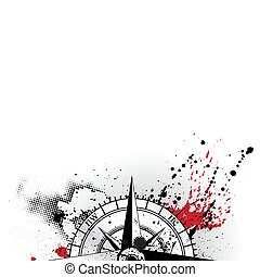 Wind rose grunge background