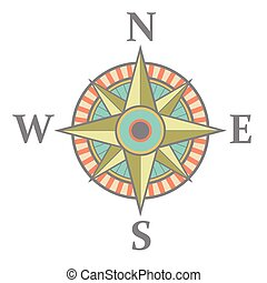 Wind rose with color