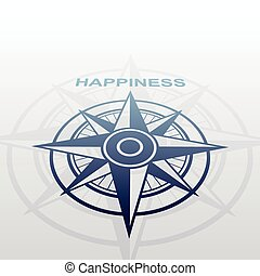 Wind rose with happiness