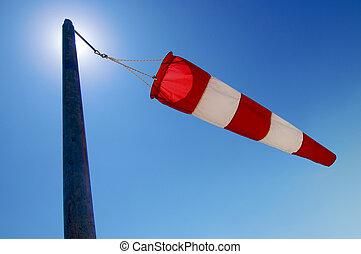 wind sleeve - manga wind flying on a blue sky