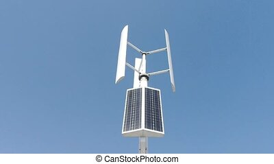 Wind solar turbine and new energy.