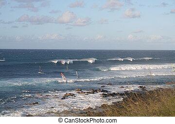 Wind Surfing at Maui Hawaii