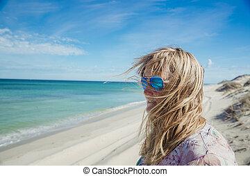 Wind Swept on the Beach