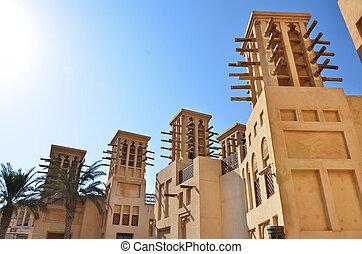 Wind Towers in Dubai, UAE