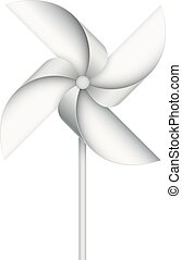 Wind toy - Realistic toy windmill isolated on white. EPS10...