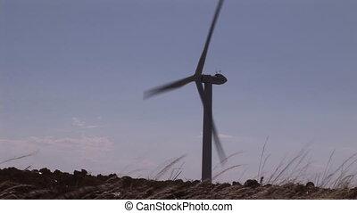 Wind Tubine in Motion