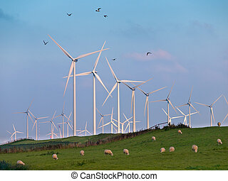 Wind Turbine and Birds - Wind Turbine Farms can make many...