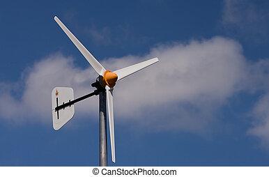 Wind turbine and the sky