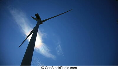 Wind Turbine Back lit