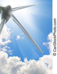 wind turbine background, environment energy - image