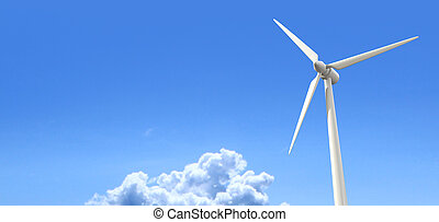 Wind Turbine Blue Sky