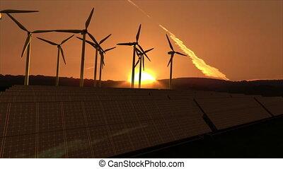 Wind turbine - Computer animation presenting wind turbine...