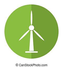 wind turbine energy bio tower shadow
