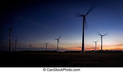 wind turbine field