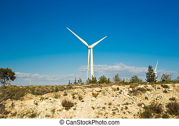 Wind Turbine for alternative energy . Eco power concept