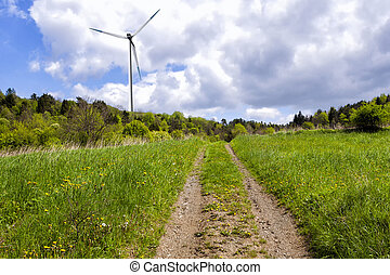 Wind turbine for electricity production