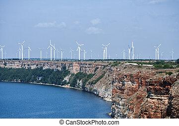 Wind turbine generators park