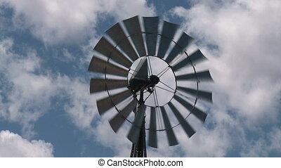 wind turbine - HD720p: Slow-motion shot of a wind turbine...