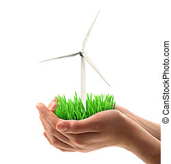 wind turbine held in hand