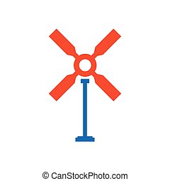 wind turbine icon blue and orange