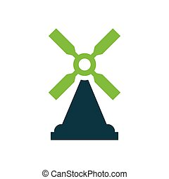 wind turbine icon design
