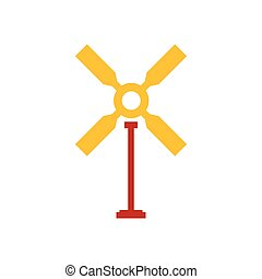wind turbine icon yellow and red color