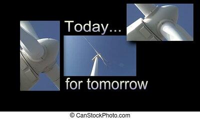Wind turbine in action