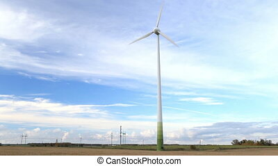 Wind turbine in the field. PAL version. NTSC version is also...