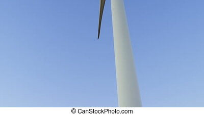 Wind turbine in the wind farm 4k - Wind turbine in the wind...