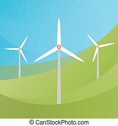 Wind Turbine landscape.