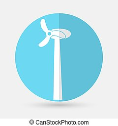 Wind Turbine,  on a white backgroundr