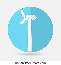 Wind Turbine, on a white backgroundr