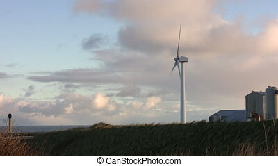 Wind turbine on the coast