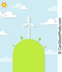 wind turbine on the hill