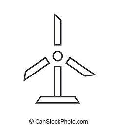 wind turbine outline flat icon vector design illustration