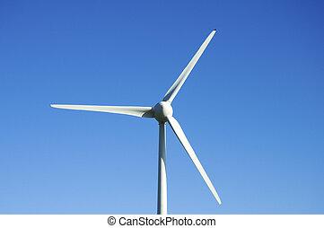 Wind turbine - Close up of a wind turbine