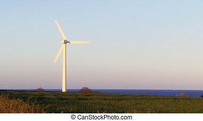 Wind turbine producing clean renewable energy