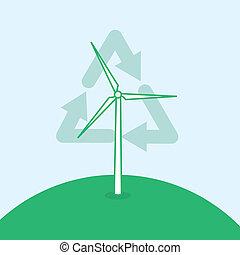 Wind Turbine Recycle Symbol