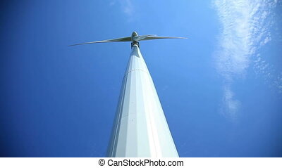 Wind Turbine Right Above The Camera