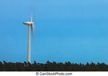 Wind turbine spinning.