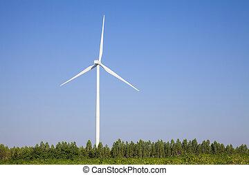 wind turbine sunset background ecosystem vintage.