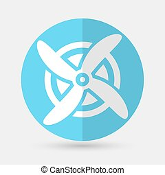 Wind Turbine, vector on a white background