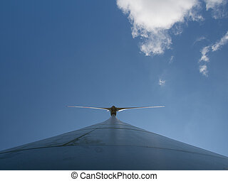 Wind turbine - View from the bottom