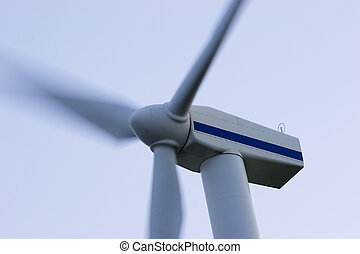 Wind Energy turbine closeup