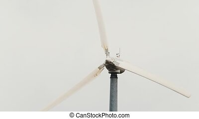 Wind turbine - wind generator close up, eco power, telephoto...