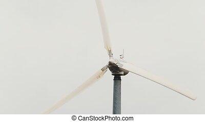 Wind turbine - wind generator close up, eco power, telephoto...