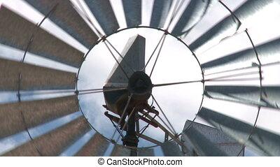 wind turbine   - wind turbine over blue sky