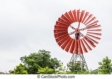 wind turbine with a clear blue sky