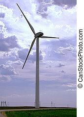 wind turbine works in the field